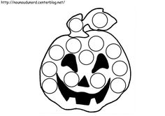 coloriage halloween a gommettes Theme Halloween, Halloween Activities, Halloween 2018, Halloween Pumpkins, Halloween Crafts, Early Childhood Activities, Nursery Activities, Do A Dot, Halloween Coloring