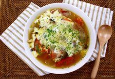 一生食べられるスープ Soup Recipes, Diet Recipes, Cooking Recipes, Healthy Recipes, Healthy Cooking, Healthy Eating, 100 Calorie Snacks, Cafe Food, Soups And Stews