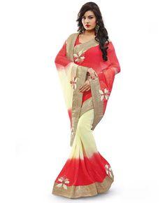 Buy Classy Cream Designer Saree online at  https://www.a1designerwear.com/classy-cream-designer-sarees  Price: $102.75 USD