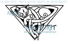 Celtic Triquetra Cat Tattoo by WildSpiritWolf on DeviantArt