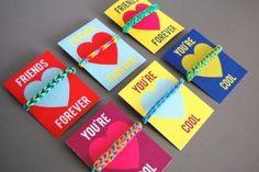 free rainbow loom Valentine printables