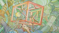 Landscapes jungle artwork traditional art moebius cube wallpaper
