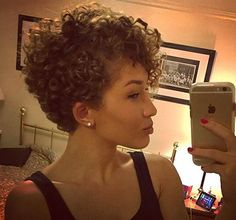 The best collection of Curly Pixie Cut hairstyles, Latest and best short curly pixie cut hairstyles, Curly pixie haircuts 2018 Short Curly Pixie, Curly Pixie Hairstyles, Curly Hair Styles, Short Curls, Haircuts For Curly Hair, Curly Hair Cuts, Short Hairstyles For Women, Cool Hairstyles, Natural Hair Styles