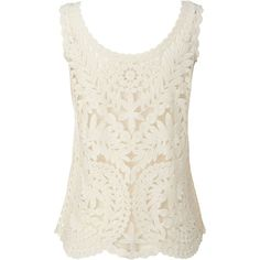 White Stuff Lilly Lace Vest ($43) ❤ liked on Polyvore featuring tops, tank tops, white cami, lace camisoles, floral camisole, lacy cami and white jersey