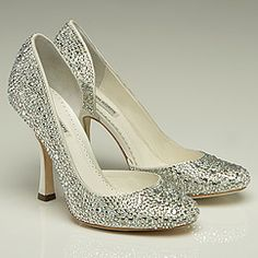 How about just flat out Swarovski covered pumps?