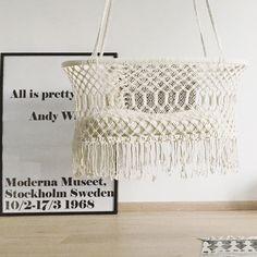 Bohemien hangwieg. Beautiful hanging cradle. Hanging Bassinet, Hanging Cradle, Baby Swings, Baby Online, Room Inspiration, Crochet Top, Kids Room, Pretty, Unique
