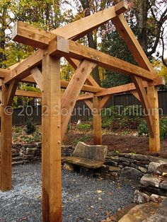 OUTDOOR ROOM – Absolutely beautiful outdoor living. Timber Frame Garden Structure