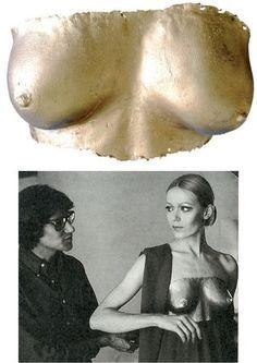 * Lalanne sculpture 4 YSL dress 1969