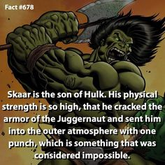 Yes he's stronger than Hulk. His healing abilities are also better than Hulk's and Wolverines! -- -- I'll be posting about some 3D glasses in my next post.. Just a heads up! by marvelousfacts