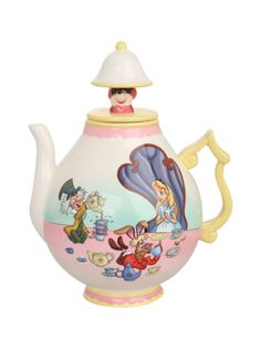 35 ounce ceramic teapot with Alice in Wonderland design.