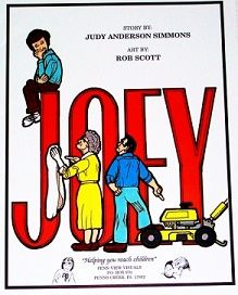 JOEY - A story written by Judy Anderson Simmons and printed in full-colored cards in booklet form by Penn View Visuals. Joey had one desire. He wanted to please Jesus. Sometimes things didn't turn out the way he planned. Even though his friends made fun of him, he wanted to please Jesus most of all. This story can be told as either a two chapter or a four-part story. Order Number #JOE-4C-CC $8.95