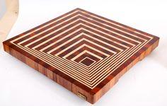 3D end grain cutting board #10