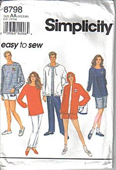 Easy to Sew Simplicity Multi-Size Pattern #8798 (Image1)