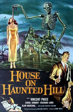 House on Haunted Hill Vincent Price Movie Theater Vintage Digitally Remastered Fine Art Print / Poster