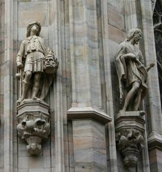 Davide con la testa di Golia e San Giovanni Battista -  duomo di milano