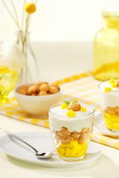 Passievrucht/mango dessert