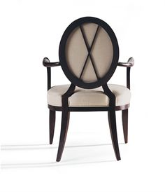 Baker Furniture : Oval X-Back Dining Arm Chair - 3441 : Barbara Barry : Browse Products Classic Furniture, Furniture Styles, Contemporary Furniture, Furniture Design, Baker Furniture, Dining Furniture, Art Deco, Dining Arm Chair, Dining Room
