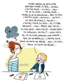 Petit précis de Grumeautique - Blog illustré: Fous allez parler oui ?! Chers Parents, Super Mum, Lol, Painting For Kids, Pictures To Draw, Vignettes, Illustrations, Cartoon, Humor