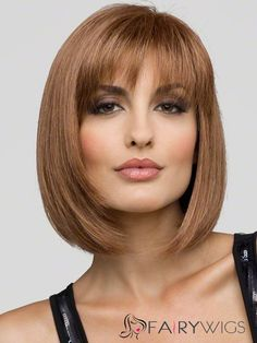 Find Carley Wig (Mono Top) by Envy Wigs. Beautiful mid-length light weight bob featuring a mono top for greater comfort. Bob Hairstyles With Bangs, Hairstyles Haircuts, Straight Hairstyles, Bob Haircuts, Hairstyle Short, Fringe Hairstyles, Cheap Human Hair, Human Hair Wigs, Short Straight Hair