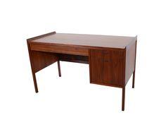 Walnut Desk Dillingham Esprit designed by Martin Borenstein Mid Century Modern by HearthsideHome on Etsy