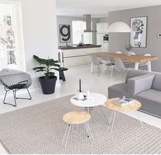 A clean and simple living room! A clean and simple living room! Home Living Room, Interior Design Living Room, Living Room Designs, Living Room Decor, Scandinavian Interior Design, Modern Interior, Scandinavian Style, Simple Living Room, Clean Living