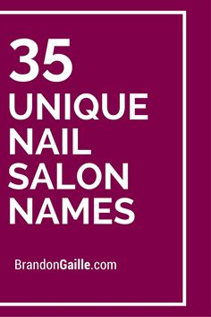 1000+ ideas about Nail Salon Names on Pinterest | Salon Names, Nail ...