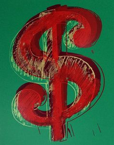 $ DOLLAR SIGN (GREEN) BY ANDY WARHOL FOR SUNDAY B. MORNING