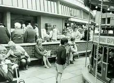 Coventry Market - This photo may well be before I was born, but I remember this well and have been on that roundabout. Coventry City, West Midlands, Old City, British History, Old Photos, Sick, Street View, England