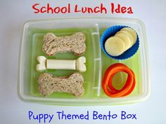 School Lunch Idea! Easy  Puppy Themed Bento Box #Dairy #Kids