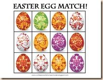 Easter Egg Matching Game: Page 1 is the game board, and page two are the game pieces! Cut apart page 2 pieces and play the matching game!