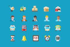 120 крутых, бесплатных и круглых иконок в стиле Flat
