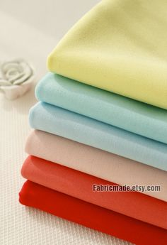 Candy Color Solid Cotton Fabric Yellow Aqua Blue Pink Red