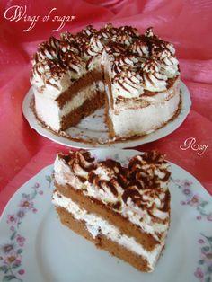 Torta cioccolato e crema al mascarpone, ricetta  Chocolate cake and mascarpone cream, recipe