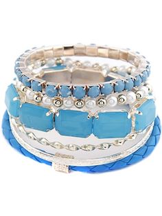 Designed for versatile use, this stylish & beautiful bracelet from CrazeeMania is an excellent addition to your bracelet's collection.  The dream bracelet featuring beaded tiered design, Tropical blue.   #Sweetbracelet, #cutebracelet, #pinkbracelet, #Alloybracelet, #Whitepearlbracelet, #goldenpearlbracelet, #tropicalbluebracelet