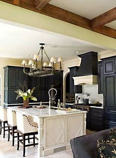 Black and white neutral kitchen - An interior design, decorating, and DIY (do it yourself) lifestyle blog with budget decor and furniture sources, paint colors, designer room images.