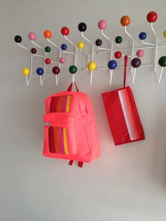 #sacs lasserre #backpack #bags #biarritz #vintage #80s #eames   http://shop.eamesoffice.com/hang-it-all.html