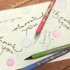 筆ぺん fudepen #thankyou #brush #kuretake #ありがとう