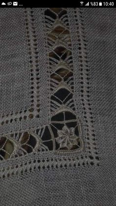 Angeles Mayorga Pascual's media content and analytics Hardanger Embroidery, Embroidery Stitches, Embroidery Designs, Drawn Thread, Thread Work, Monks Cloth, Linen Towels, Sewing Studio, Needlework