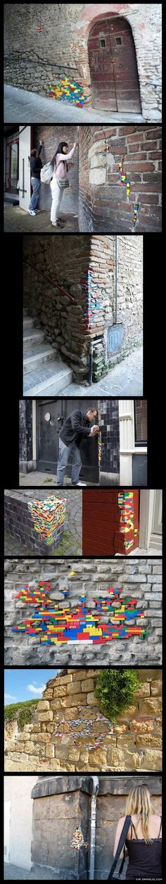 Fixing Walls With Lego - The Best Funny Pictures