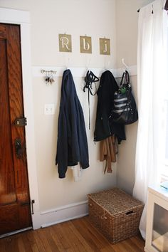 front hall coat hooks?