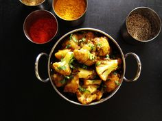 Easy Instant Pot Aloo Gobi has Indian-spiced cauliflower and potatoes and makes a wonderful vegetarian side or main dish for an Indian-themed meal.