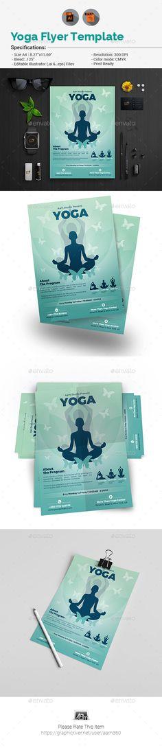 Yoga Flyer\/ Print ad Flyer printing, Yoga and Printing - yoga flyer