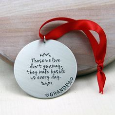 In Memory Ornament Memorial Christmas Ornament by RememberMyAngel Christmas Baubles, Christmas Crafts, Christmas Decorations, In Memory Christmas Ornaments, Memorial Ornaments, Memorial Gifts, Cricut Christmas Ideas, Memory Tree, Homemade Christmas Gifts