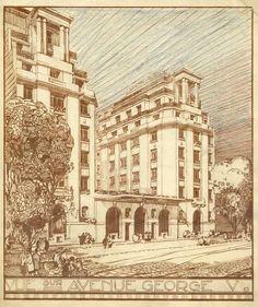 1925 Art deco Architecture - Hotel George V