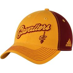 75a8d6f578d2f Cleveland Cavaliers adidas Christmas Day Slouch Adjustable Hat - Gold Maroon