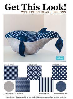 Riley Blake Designs Blog: Whale Patrón gratuito ya está disponible
