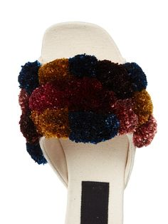 Pompom-embellished slipper shoes   Sanayi 313   MATCHESFASHION.COM UK