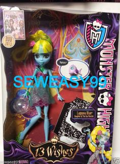 Monster High 13 Wishes Lagoona Blue Daughter of the Sea Monster with Pet Neptuna