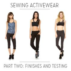 Sewing activewear with Melissa Fehr, part 2: finishes and testing  |  Coletterie