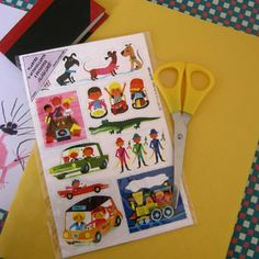 Autocollants Alain Grée, un graphisme simple et enthousiaste des années 1960 et 70.